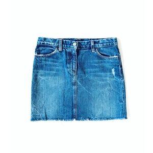 J. Crew Distressed Denim Mini Skirt